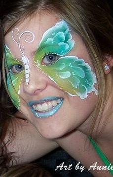 Annie Reynolds face and body painting in Southern California SoCal