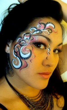 Directory of face and body painters in Hawaii, California, Oregon, Arizona, Nevada, New Mexico, Washington