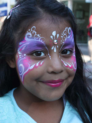 face and body painter painting California